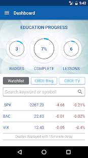CBOE Mobile- screenshot thumbnail