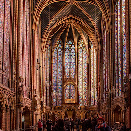 Heavenly #1 by Tomasz Karasek - Buildings & Architecture Places of Worship ( paris, gothic, church, colorful, steamed windows )