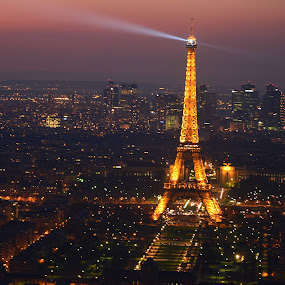 by Marcel Cintalan - City,  Street & Park  Night ( eiffel tower, paris, nightscape )