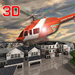 Urban City Rescue Helicopter Icon