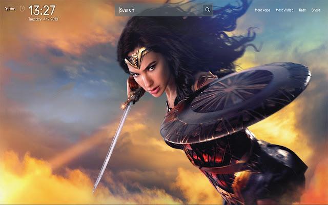 Wonder Woman Wallpapers NewTab Theme