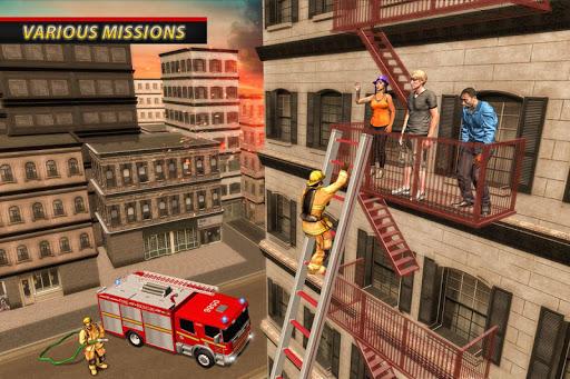 Fire Truck Ambulance Driver: Fire Rescue Games 1.0 screenshots 9