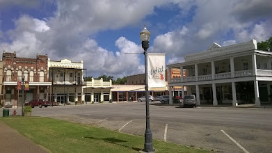 Photo: Downtown Goliad - with banner