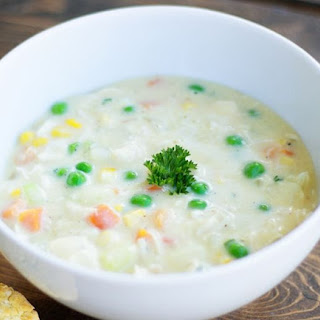 Chicken Pot Pie Soup for Diabetics