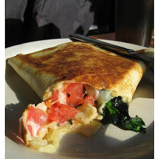 Spinach - Cheese Crepes.