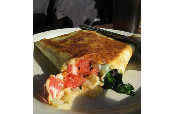 Spinach - Cheese Crepes Recipe