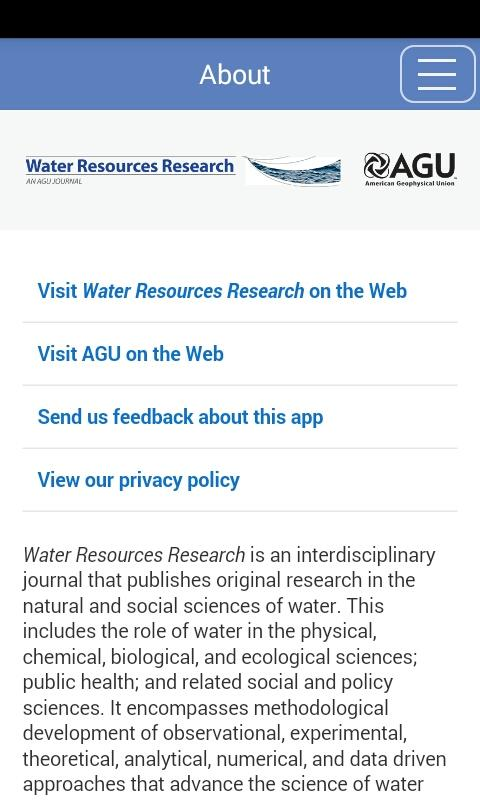 Water Resources Research- screenshot