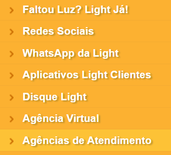 ache agências light para religação