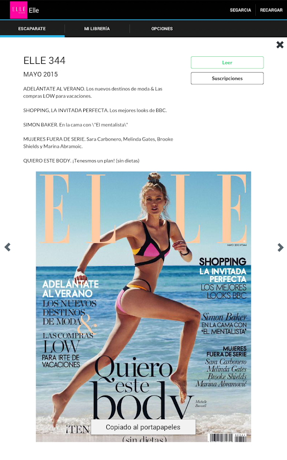 ELLE Revista- screenshot