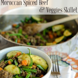 Moroccan Spiced Beef and Veggie Skillet