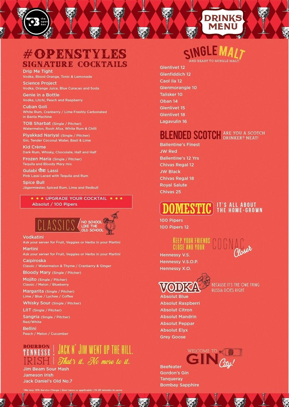The Open Box menu 6