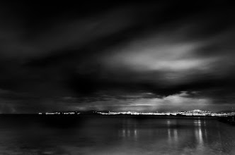 Photo: black light  last bits of light over Piraeus Hills, viewed form the Faliro Sea Front.  you don't wanna know how cold my hands were that evening. It's a miracle my filters are still in one piece after struggling to screw/unscrew them a hundred times with those frozen hands :)  for #LongExposureThursday , curators +Francesco Gola & +Le Quoc  #ThirstyThursday , curator +Giuseppe Basile  & of course, dear +Joel Tjintjelaar's #BWFineArtLE
