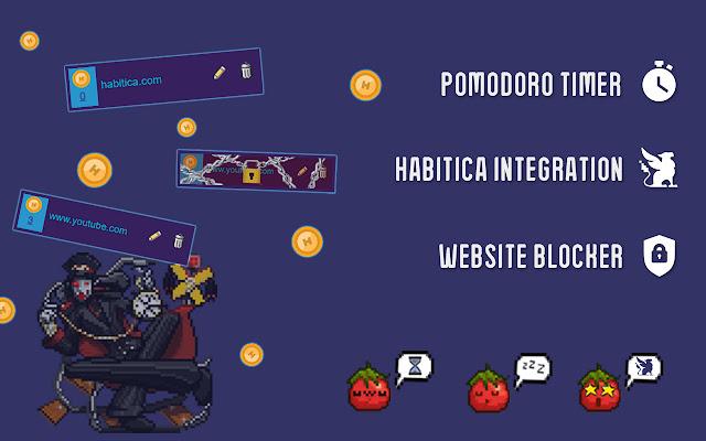 Habitica Pomodoro SiteKeeper