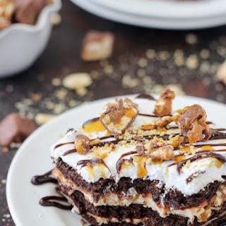No-Bake Snickers Icebox Cake