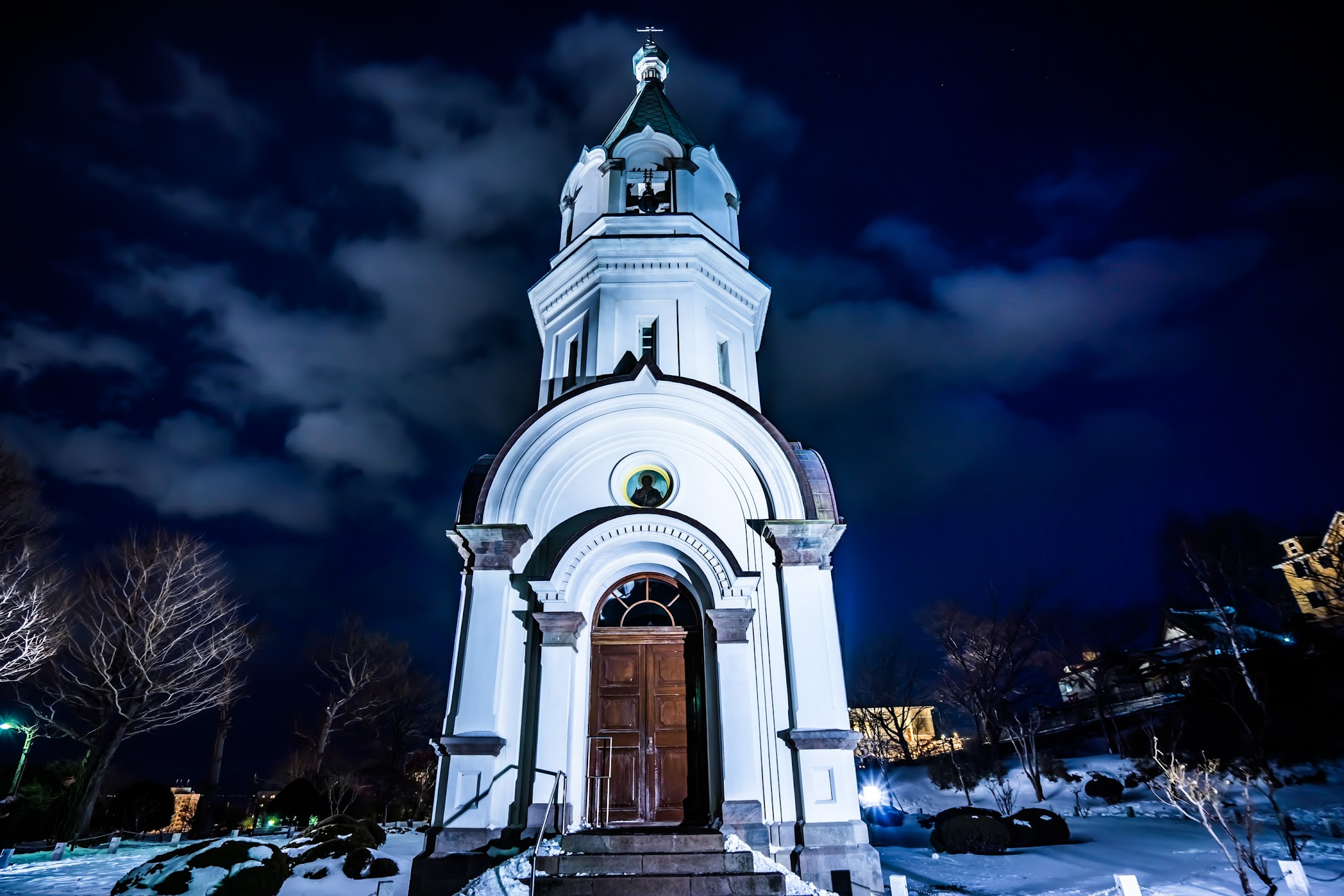 Hakodate Orthodox Church light-up2