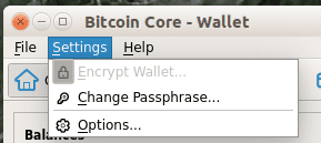 Encrypt Bitcoin Core Wallet