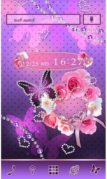 Cute Wallpaper Pearl Hearts Android App Screenshot