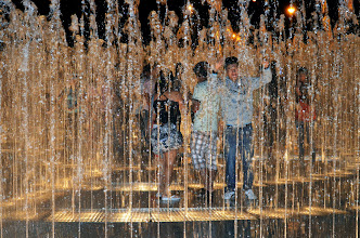 Photo: Teens playing in the fountain