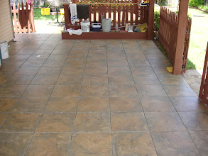 Photo: outside patio area installed W/14x14 tile