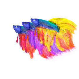 Fighting Fish by Ahmad Sayeed - Illustration Abstract & Patterns ( art )