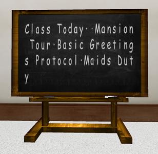 AYA's Class blackboard