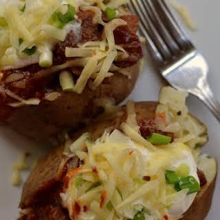Barbecue Steak Stuffed Potatoes.