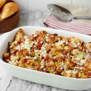 Ham and Cheese Croissant Stuffing Recipe