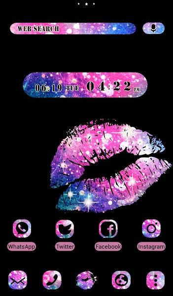 Cool Wallpaper Galaxy Lips Theme