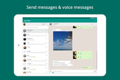 Tablet for WhatsApp for PC