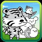 雪白动物们 可爱的游戏 icon