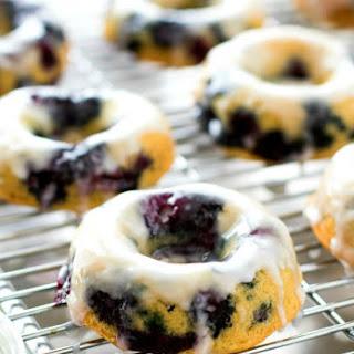 Buttermilk Glazed Blueberry Doughnuts.