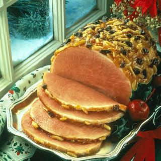 Raisin-Apricot Glazed Ham.