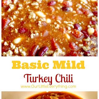 Slow Cooker Mild Turkey Chili