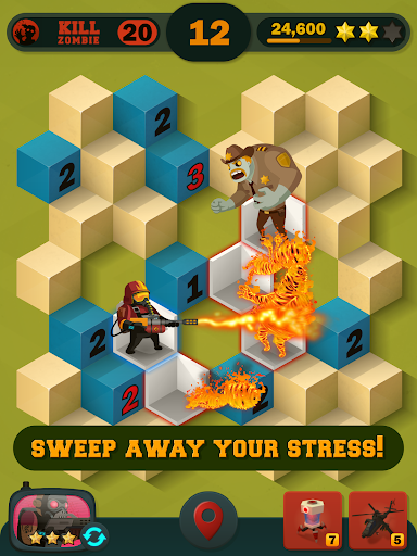 Zombie Sweeper: Minesweeper Action Puzzle 1.1.015 screenshots 20