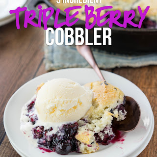 Triple Berry Cobbler.