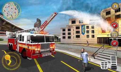 Flying Firefighter Truck Simulator 2019 App Report on Mobile