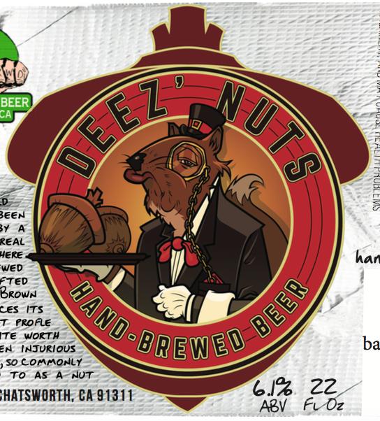 Logo of Hand-Brewed Deez Nuts Brown Ale