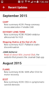Journal Club for Android- screenshot thumbnail