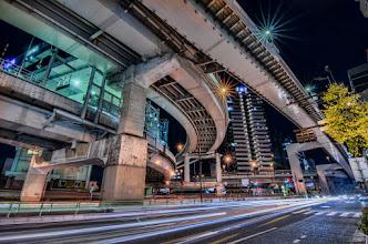 Photo: The Metropolitan Expressway crossing over Shinjuku in Tokyo, Japan