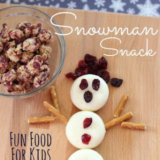 Healthy Snowman Snack for Kids