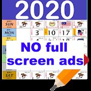Malaysia Calendar 2019 /2020 Note Widget HD