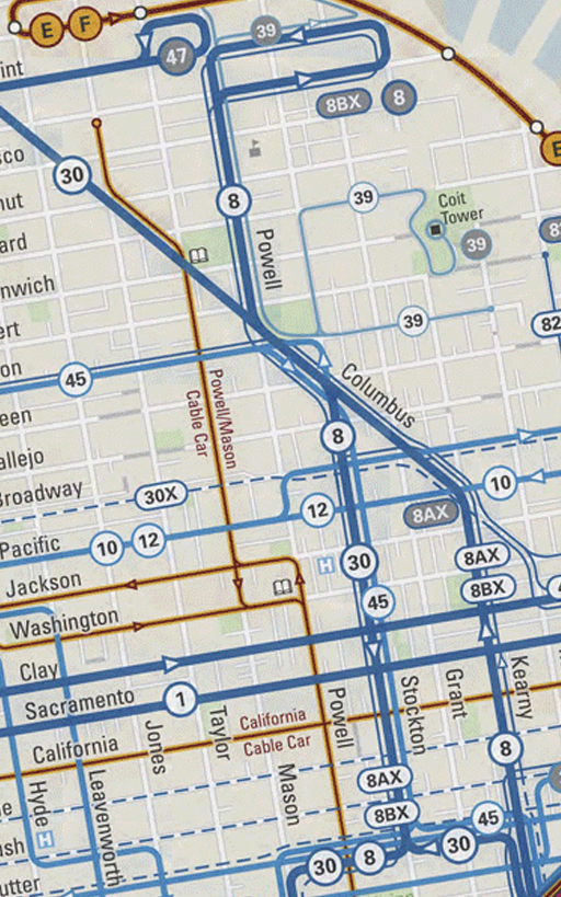 San Francisco Transport Map- screenshot