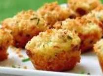 Fill prepared muffin tins 1/2 full with the batter, then place equal amounts of...