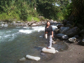 Photo: Enjoying the river at Mindo Cloud Forest Nature Preserve.
