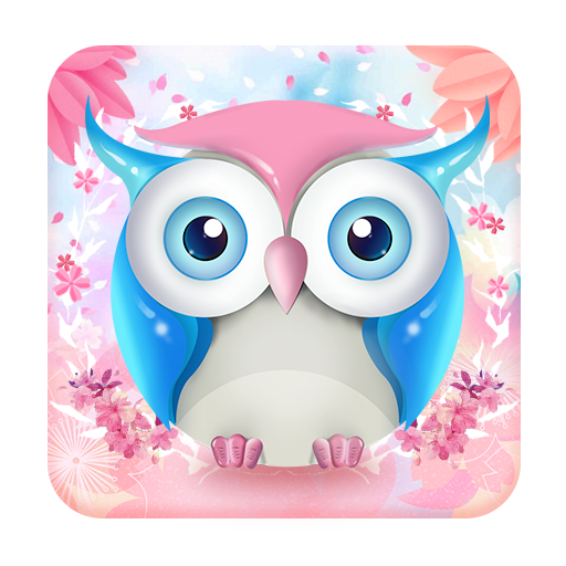 Cute Pink Owl Keyboard