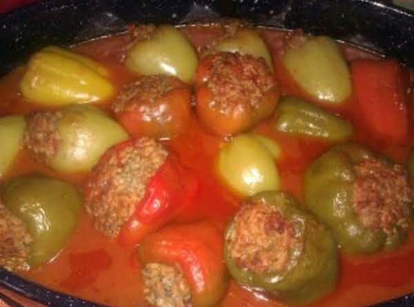 Stuffed Green Peppers (easy) Recipe