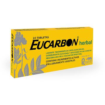 Eucarbon Herbal Tabletas   Caja X10Tab. Rophson Hojas Sen Extracto Ruiba