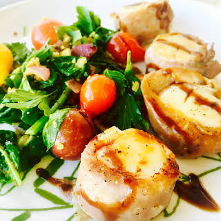 Prosciutto-Wrapped Scallops with Balsamic.
