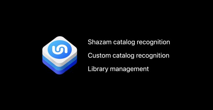 Features of ShazamKit. Image Credits: Explore ShazamKit WWDC'21
