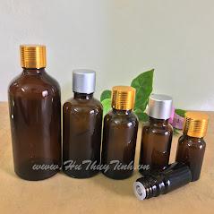 Vỏ chai tinh dầu màu nâu